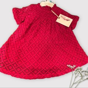 Jessica Simpson NWT Baby Girl Red Dress